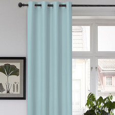 Blue Albany Single Panel Eyelet Blockout Curtain