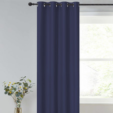 Navy Albany Single Panel Eyelet Blockout Curtain
