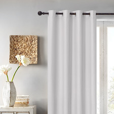 Silver Albany Single Panel Eyelet Blockout Curtain