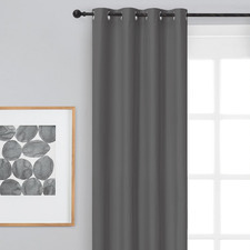 Grey Albany Single Panel Eyelet Blockout Curtain