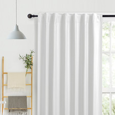 Ivory Albany Single Panel Concealed Tab Top Blockout Curtain