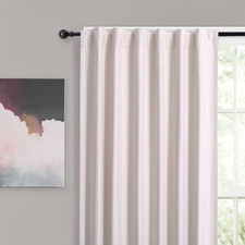 Pink Albany Single Panel Concealed Tab Top Blockout Curtain
