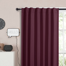 Wine Albany Single Panel Concealed Tab Top Blockout Curtain