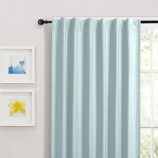 Blue Albany Single Panel Concealed Tab Top Blockout Curtain
