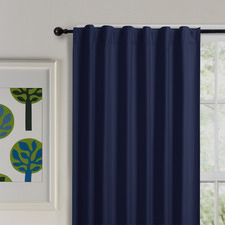 Navy Albany Single Panel Concealed Tab Top Blockout Curtain