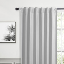 Silver Albany Single Panel Concealed Tab Top Blockout Curtain