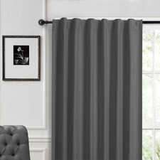 Grey Albany Single Panel Concealed Tab Top Blockout Curtain