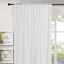 Ivory Albany Pinch Pleat Blockout Curtains (Set of 2)