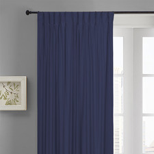 Navy Albany Pinch Pleat Blockout Curtains (Set of 2)