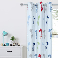 Raffee Single Panel Eyelet Blockout Curtain