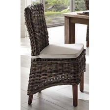 Halifax Morin Kubu Rattan Dining Chair with Cushion (Set of 2)