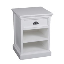 Coastal 1 Drawer & Horizontal Shelves Bedside