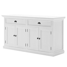 Distressed White Coastal Buffet
