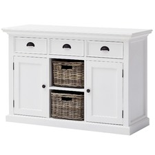 Distressed White Coastal Complete Kitchen Buffet
