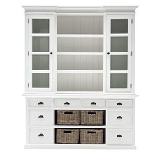 Halifax Wide Kitchen Hutch with Baskets
