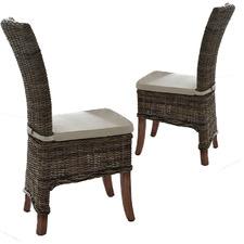 Halifax Salsa Kubu Rattan Dining Chair with Cushion (Set of 2)