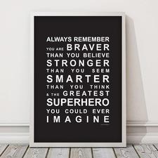You're A Superhero Framed Print