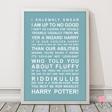 Harry Potter Quotes Framed Print