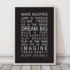 Make Mudpies Framed Print