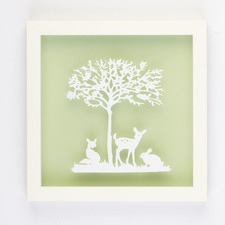 Friends Of The Forest Framed Paper Art
