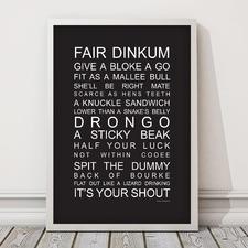 Aussie Slang Framed Print