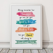 Beautiful, Brave And Fierce Framed Print