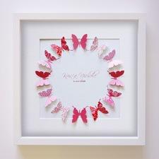 Butterflies Handcrafted Paper Art Frame