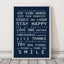 Family Rules Framed Print