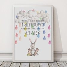When It Rains Look For Rainbows Framed Print