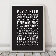 Fly A Kite Framed Print