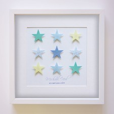 Suley Stars Handcrafted Paper Art Frame