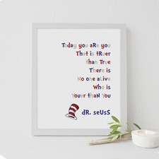 Dr Seuss - You Are You Framed Print