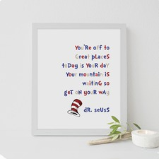 Dr Seuss - You'Re Off To Great Places Framed Print
