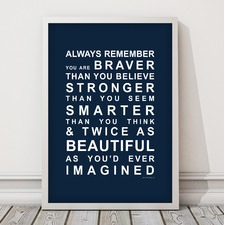 You Are Beautiful Framed Print
