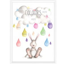 Watercolour Colours Educational Framed Print