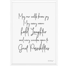 May Our Walls Know Joy Framed Print