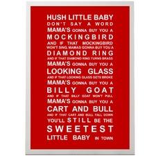 Hush Little Baby Framed Print