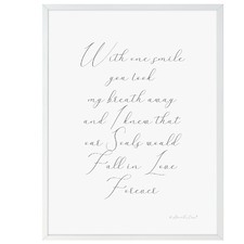 With One Smile Framed Print