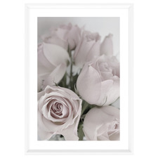 Dusty Pink Elegance Rose Framed Printed Wall Art