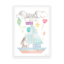 Watercolour Shapes Framed Print