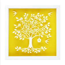 My Little Ray Of Sunshine Framed Paper Art