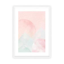 Blush Mountain Sunset Framed Print