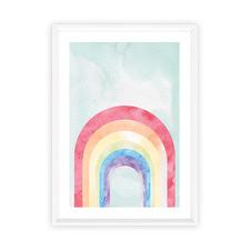 Aqua Skies Framed Print