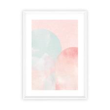 Blush Mountain Moonlight Framed Print