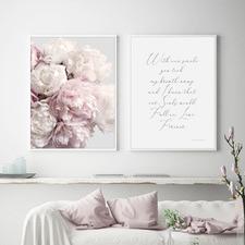 Peony Blush Framed Printed Wall Art