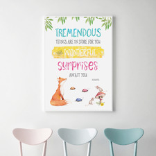 Roald Dahl Tremendous Things Are In Store Framed Print