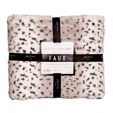 White Tiger design Faux Throw