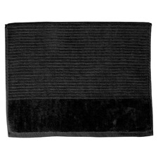 Jenny Mclean Royal Excellency Bath Mats 1100GSM Black (Set of 2)