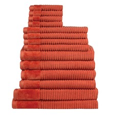 Jenny Mclean Royal Excellency 14 Piece Bath Linen Set Orange