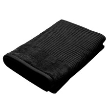 Jenny Mclean Royal Excellency Bath Towel 600GSM Black (Set of 2)